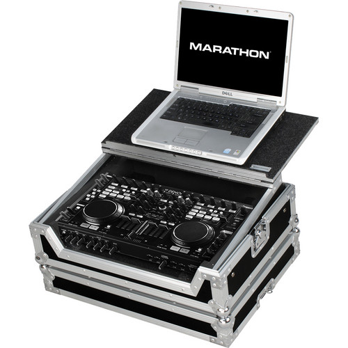 Marathon MA-DNMC6000LT Case to Hold Denon DN-MC6000 Controller (with Laptop Shelf)