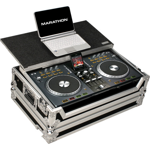 Marathon Case For Numark IDJ3 iPod Mixer Station Controller With Laptop Shelf