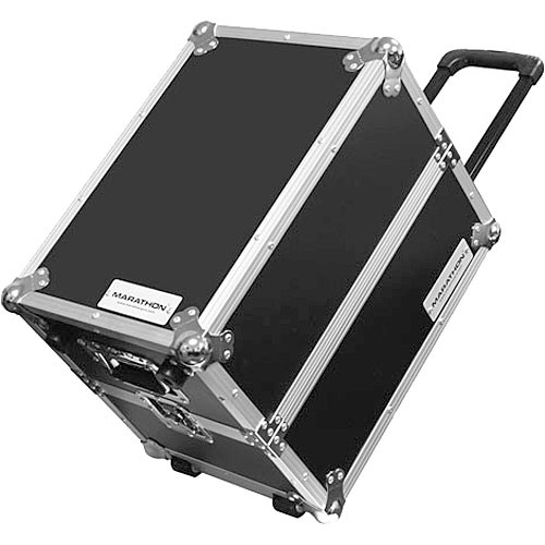 Marathon MA-LPHWE Flight Road 100 Capacity Medium-duty LP Case with Wheels (Black)