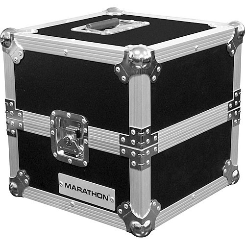 Marathon MA-LP Flight Road 80 Capacity Deluxe LP Case (Black on Chrome)