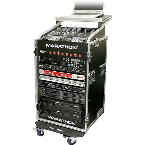 Marathon MA-M16UWLT 10U Rolling Slant Mixer Rack Case
