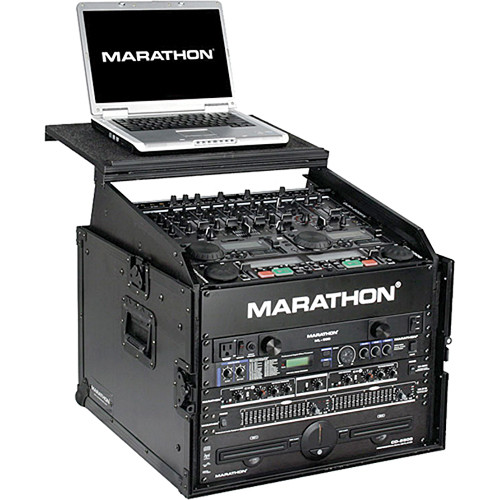 Marathon MA-M6ULTBLK Flight Road Slant Mixer Combo with Laptop Case