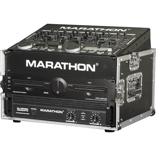 Marathon MA-M804E  Flight Road 8U Slant Mixer with 4U Vertical Rack Space Case