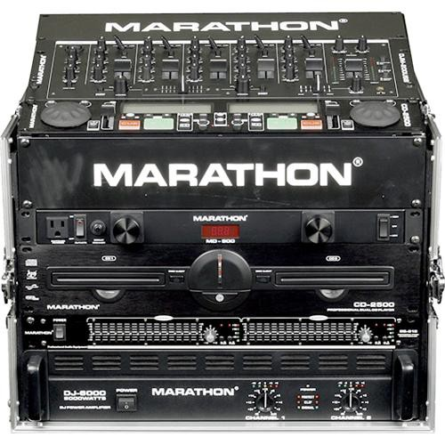 Marathon MA-M806E  Flight Road 8U Slant Mixer with 6U Vertical Rack Space Case