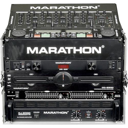 Marathon MA-M806E  Flight Road 8U Slant Mixer with 6U Vertical Rack Space Case