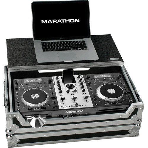 Marathon MA-MIXDECKLT Case for Numark MixDeck Universal DJ Station (Black and Chrome)