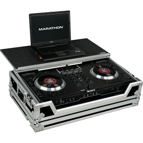 Marathon MA-NS7WLT Case for Numark NS7 Serrato Controller (Black and Chrome)