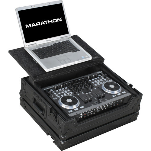 Marathon Case For American Audio VMS4 Music Controller W/ Laptop Shelf (Black)
