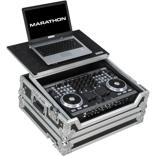 Marathon MA-VMS4 Case for American Audio VMS4 Music Controller (with Laptop Shelf)