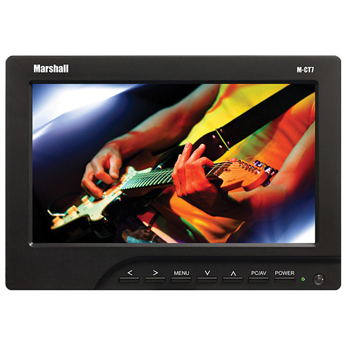 "Marshall Electronics M-CT7 7"" LCD On-Camera HDMI Monitor with Canon BP511 Plate / Battery / Charger"