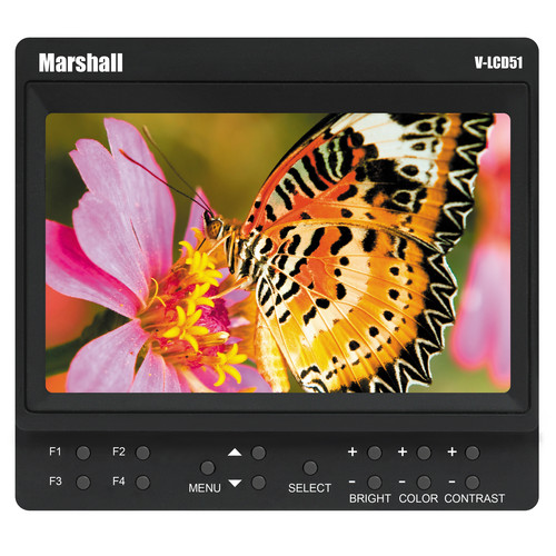 "Marshall Electronics V-LCD51 5"" Monitor / EN-EL3 Style Battery / and Battery Adapter Kit"