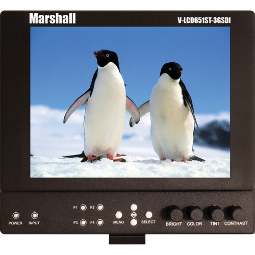 "Marshall Electronics V-LCD651STX-3GSDI 6.5"" Lightweight On-Camera Field Monitor"