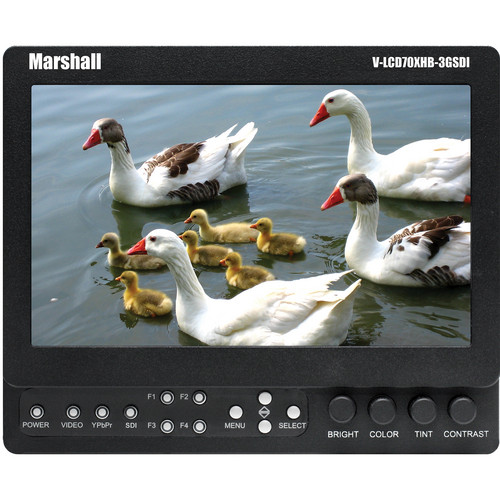 "Marshall Electronics 7"" LCD On-Camera Monitor (Gold Mount)"