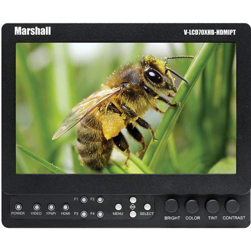 "Marshall Electronics 7"" Field / Camera-Top LCD Monitor with HDMI Loop-Through"