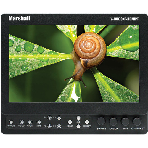 "Marshall Electronics 7"" High-resolution Field Monitor (V-Mount)"