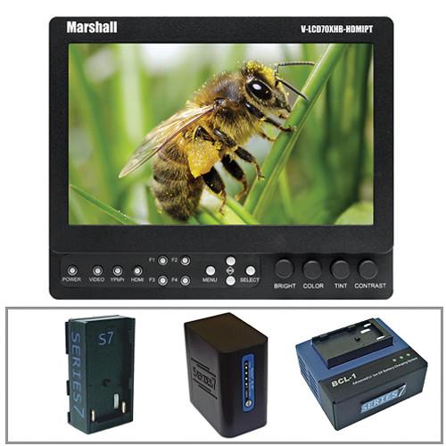 "Marshall Electronics V-LCD70XHB-HDMIPT-SL 7"" On-Camera Field Monitor with Series 7 Power Kit"