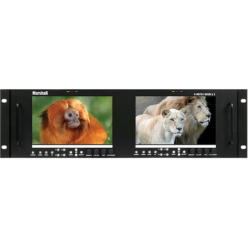 "Marshall Electronics V-MD702-HDSDIX2 Dual Rack Mount LCD Monitor (7"")"