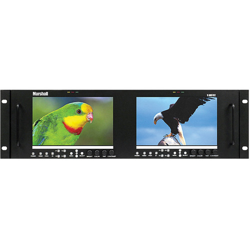 "Marshall Electronics V-MD702 Dual High Resolution LCD Rack Mount Monitor (7"")"