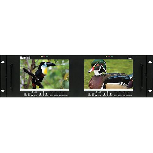 "Marshall Electronics V-MD72 Dual High Resolution LCD Rack Mount Monitor (7"")"
