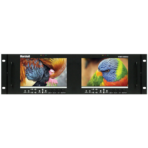"Marshall Electronics V-MD72-HDSDIX2 Dual High Resolution LCD Monitor (7"")"