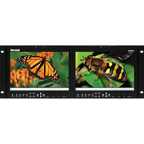 "Marshall Electronics V-MD902 Dual LCD Rack Mount Monitor (9"")"
