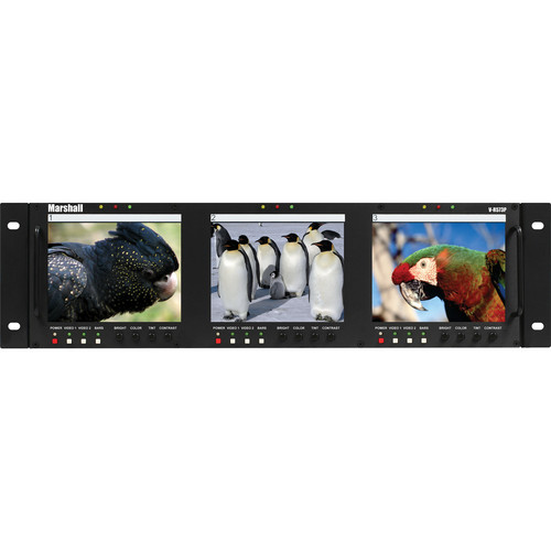 "Marshall Electronics V-R573P Triple 5.7"" Full Color Active Matrix LCD Panel"