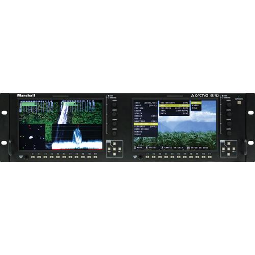 "Marshall Electronics OR-702 Dual 7"" LCD Rack Mount Monitor"