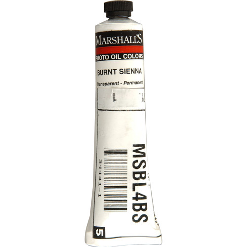 "Marshall Retouching Oil Color Paint: Burnt Sienna - 3/4x4"" Tube"