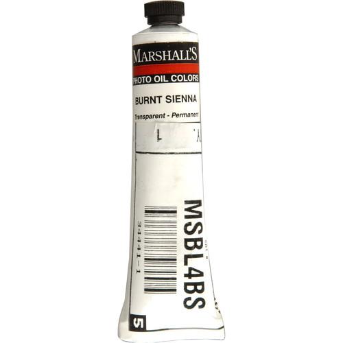 "Marshall Retouching Oil Color Paint: Burnt Sienna - 3/4x4"" Tube"