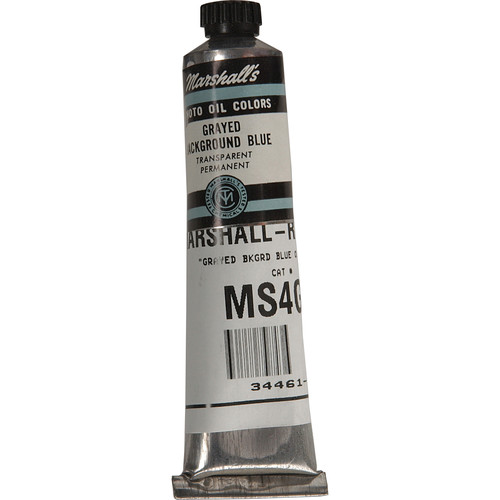 "Marshall Retouching Oil Color Paint: Grayed Background Blue - 3/4x4"" Tube"