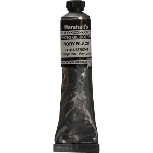 """Marshall Retouching Oil Color Paint/Extra Strong: Ivory Black - 3/4x4"""" Tube"""