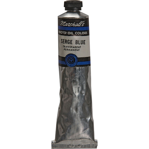 "Marshall Retouching Oil Color Paint: Serge Blue - 3/4x4"" Tube"