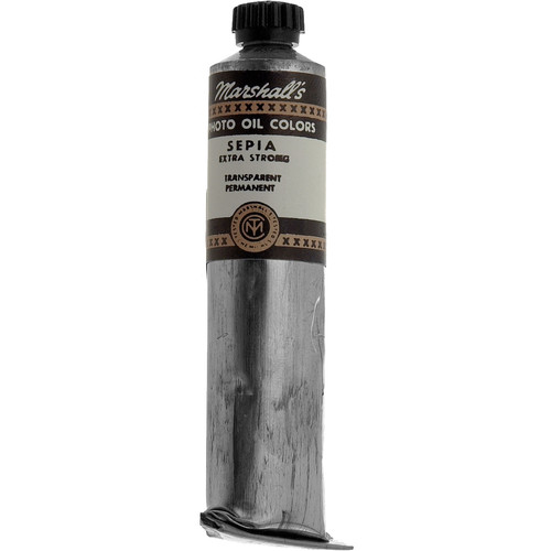 """Marshall Retouching Oil Color Paint/Extra Strong: Sepia - 3/4x4"""" Tube"""