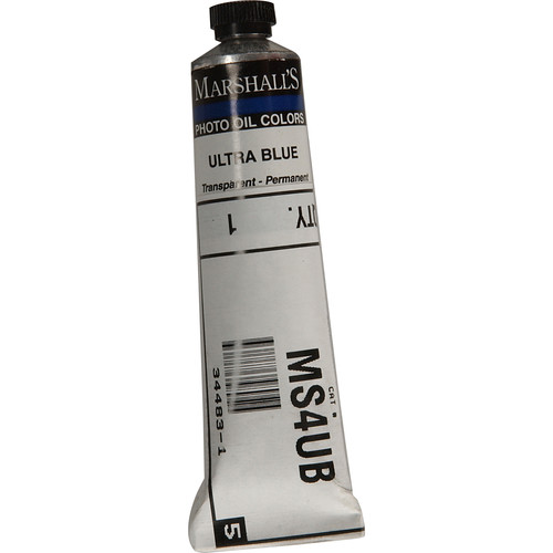 "Marshall Retouching Oil Color Paint: Ultra Blue - 3/4x4"" Tube"