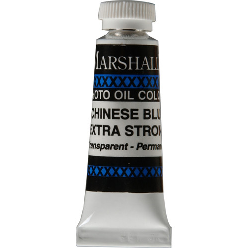 "Marshall Retouching Oil Color Paint/Extra Strong: Chinese Blue - 1/2x2"" Tube"