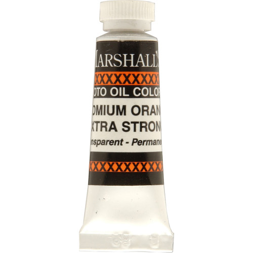 """Marshall Retouching Oil Color Paint/Extra Strong: Cadmium Orange - 1/2x2"""" Tube"""