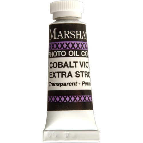 """Marshall Retouching Oil Color Paint/Extra Strong: Cobalt Violet - 1/2x2"""" Tube"""