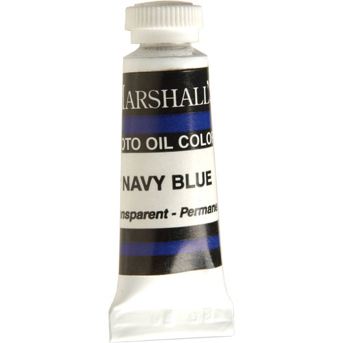 "Marshall Retouching Oil Color Paint: Navy Blue - 1/2x2"" Tube"