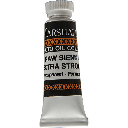 """Marshall Retouching Oil Color Paint/Extra Strong: Raw Sienna - 1/2x2"""" Tube"""