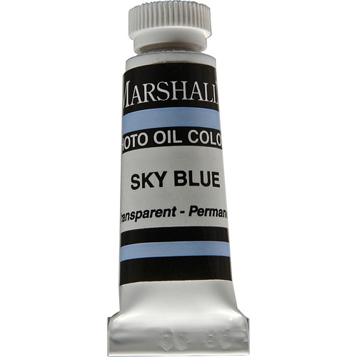 "Marshall Retouching Oil Color Paint: Sky Blue - 1/2x2"" Tube"