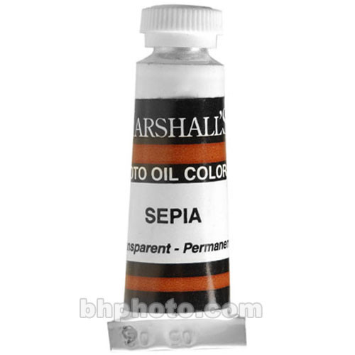 "Marshall Retouching Oil Color Paint: Sepia - 1/2x2"" Tube"