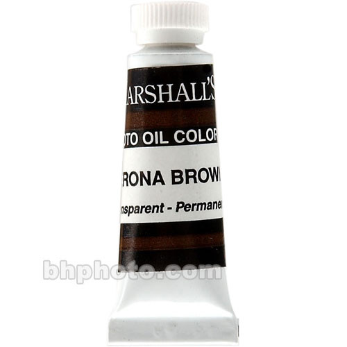 "Marshall Retouching Oil Color Paint: Verona Brown - 1/2x2"" Tube"