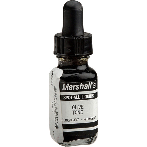 Marshall Retouching Spot-All Retouch Dye for Black & White Prints - Olive Tone, 1/2 Oz.