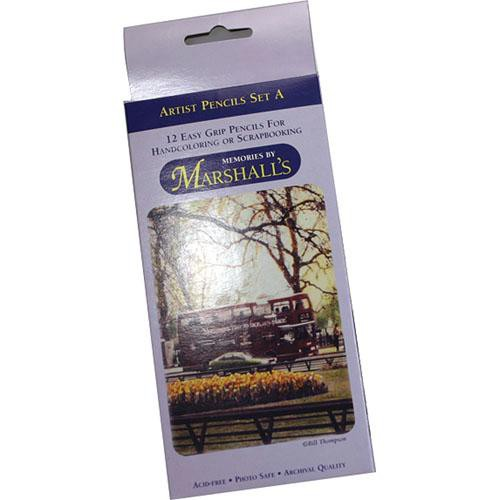 Marshall Retouching MSMMSETA  Memories by Marshalls Easy Grip Artist Pencils (Set A)