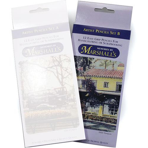 Marshall Retouching MSMMSETB  Memories by Marshalls Easy Grip Artist Pencils (Set B)