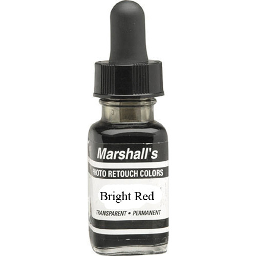 Marshall Retouching Retouch Dye for Black & White or Color Prints - Bright Red