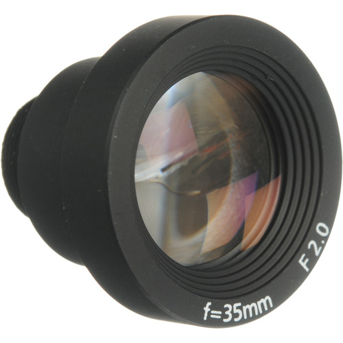 Marshall Electronics V-4335-2.0 35mm f/2.0 Micro-Mount Miniature Glass Lens for 2/3-Inch CCD