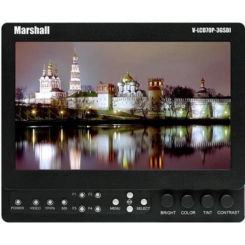 "Marshall Electronics V-LCD70XP-3GSDI-SB 7"" LCD Field Monitor w/Sony 'B' Mount"