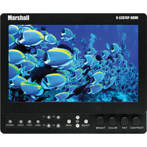 "Marshall Electronics V-LCD70XP-HDMI-CM 7"" LCD Field Monitor w/Canon Mount"