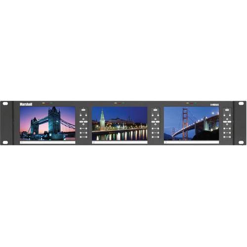"Marshall Electronics V-MD503-3GSDI 5"" Triple Rack Mount Monitor"